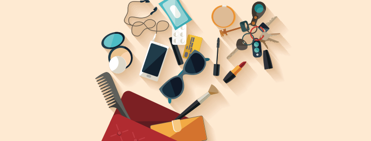 bag filled with essentials