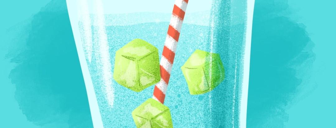 gatorade ice cubes in water
