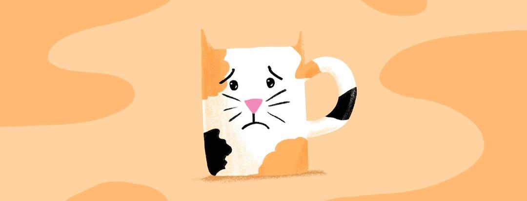 a mug that resembles a cat