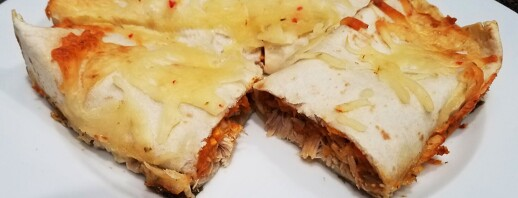 Cheesy Sweet Potato Chicken Enchiladas image