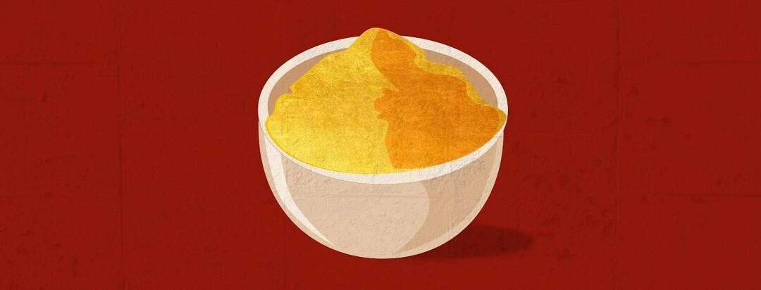 bowl of turmeric